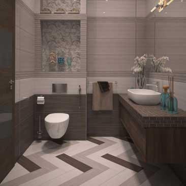 Фото выполненных дизайн проектов интерьера ванной.