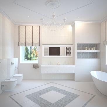 Проектирование ванных комнат - портфолио.