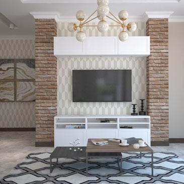Проекты дизайнеров: дизайн гостиной комнаты фото.