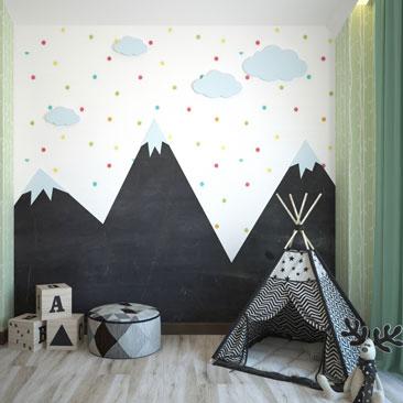 Заказать дизайн проект комнаты для младенца.