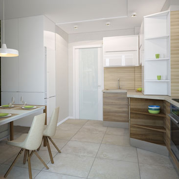 Белая кухня - дизайн, интерьер.