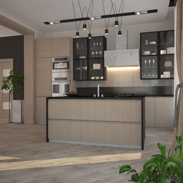 Дизайн кухни-столовой.