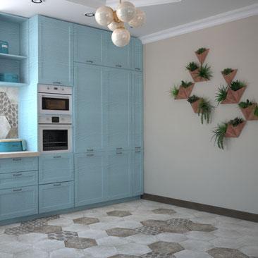 Большая кухня, дизайн, фото.
