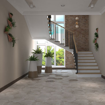 Трехмаршевая лестница: дизайн, проект, интерьер.