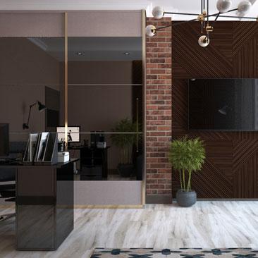 Дизайн офисного кабинета <strong>интерьер в офисе фото</strong> для мужчины.