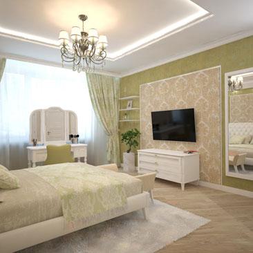 Спальня в квартире.