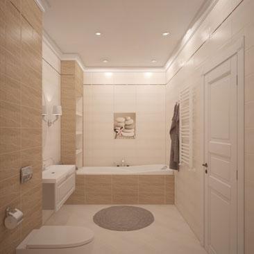 Интерьеры ванных комнат в современном стиле.