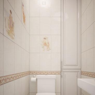 Туалет. Дизайн. Классика. Фото.