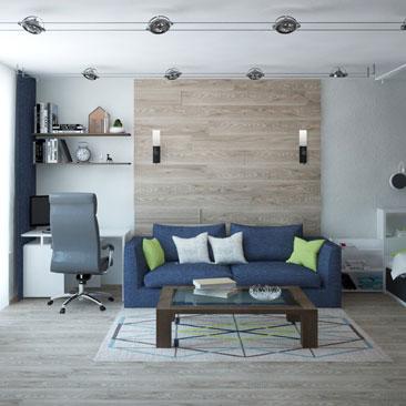 Проект интерьера гостиной - новые работы.