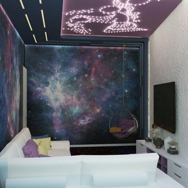 Дизайн интерьера гостиной - новые проекты.