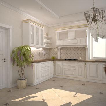 Дизайн кухни в классическом стиле - новые проекты.
