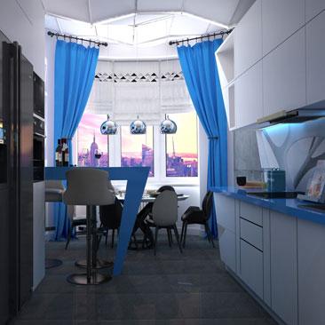Проект. Космическая кухня дизайн.