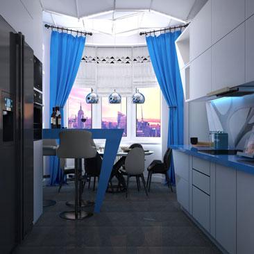 Дизайн-проект интерьера квартиры (Сколково).