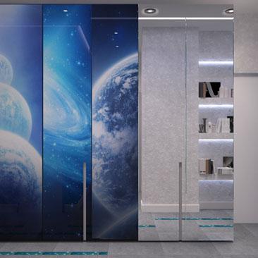 Дизайн квартиры (холл) в космическом стиле.