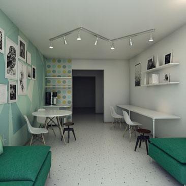 Дизайн-проект комнаты ожидания в детском центре.