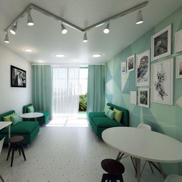 Комната для родителей в детском центре развития.