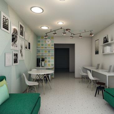 Дизайн родительской комнаты ожидания - проект, интерьер.