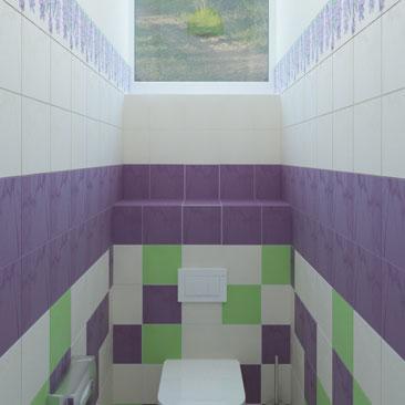 Детский туалет - дизайн, интерьер, проект.