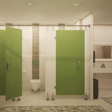 Дизайн общего туалета в детском клубе.