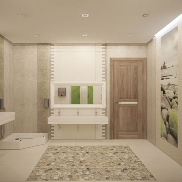 Проектирование санитарных узлов в общественных центрах.