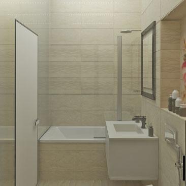Интересные идеи дизайна маленькой ванной комнаты с фото.