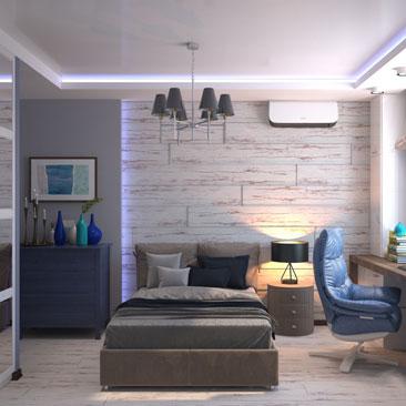 Подростковая спальня. Заказать дизайн комнаты.