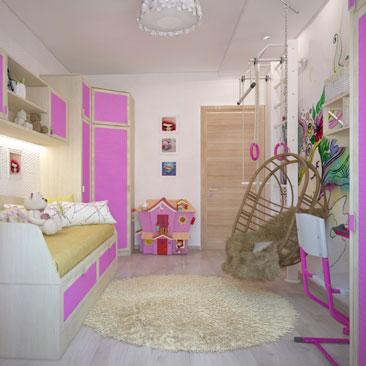 Розовая детская комната: идеи, фото.