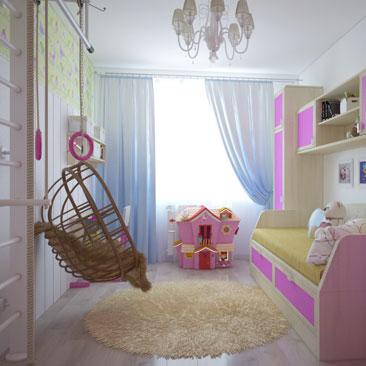 Розовая детская комната - Уютная детская.