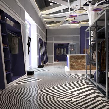 Дизайн интерьера магазина женской одежды.