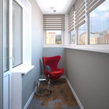 Cовременный - дизайн балкона и лоджии фото.