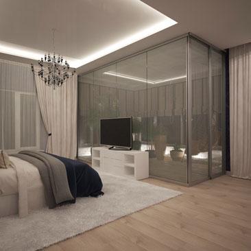 Современный - Дизайн интерьера спальни фото