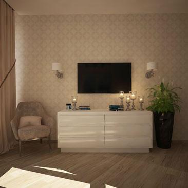 Дизайн-проект спальни (от разработки под ключ).