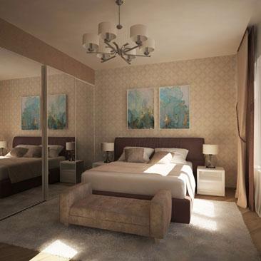 Заказать дизайн проект интерьера спальни - недорого, портфолио, качество.