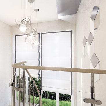 Красивый и оригинальный дизайн лестницы в частном коттедже - фото.