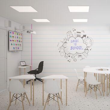 Дизайн интерьера детского клуба раннего развития.