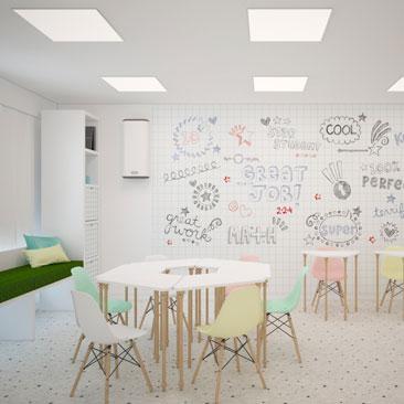 Заказать проектирование частных детских садов, развивающих центров, детских клубов.