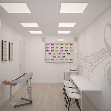 Музыкальный кабинет - дизайн, фото.
