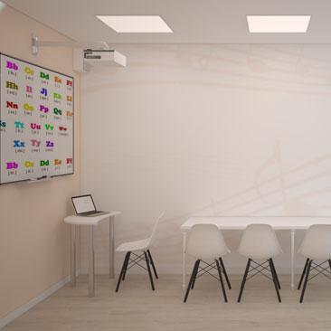 Дизайн помещений детского сада: класс музыки.