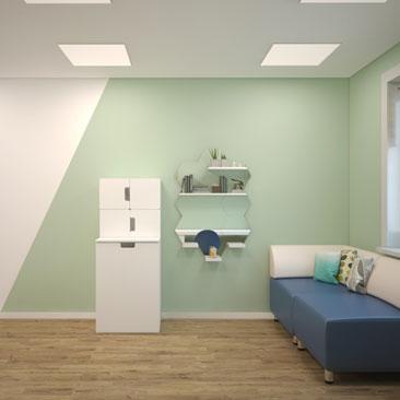 Дизайн дошкольных интерьеров - учительская.
