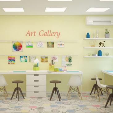 Дизайн детского центра — заказать услуги профессиональных дизайнеров.