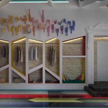 Дизайн магазина одежды - фото.