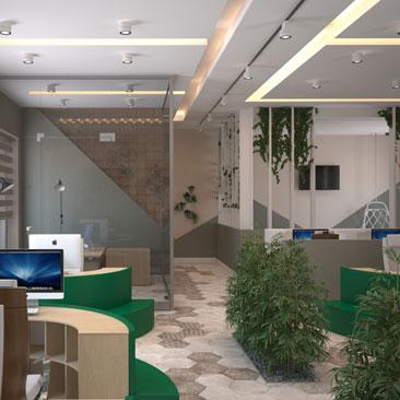 Офис в стиле «open space» фото.