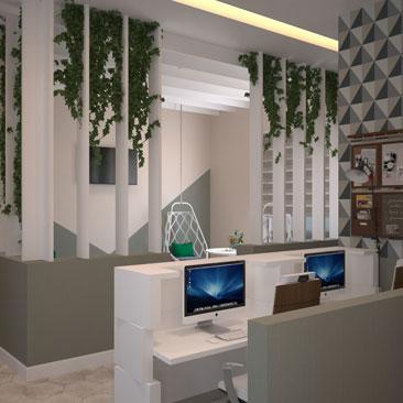 Оригинальный дизайн офиса фото.