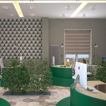 Красивый дизайн офиса фото.