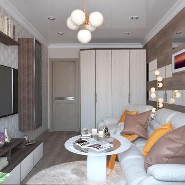 Интерьер гостиной с кожаной мебелью: дизайн, проект.
