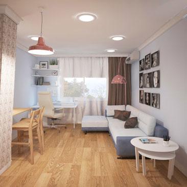 Дизайн кухни-гостиной - фото.