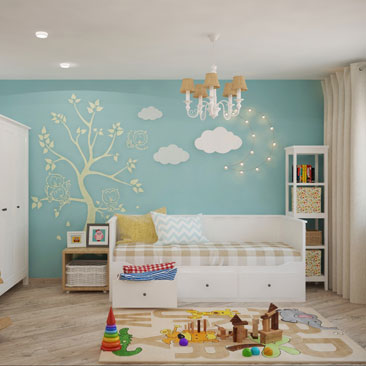 Идеи и фотографии детских комнат для самых маленьких и подростков.