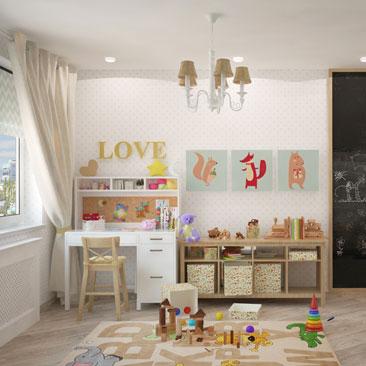 Интерьер детской комнаты — фотографии, идеи.