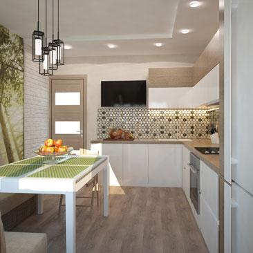 Дизайн кухни, интерьер, ремонт, фото.