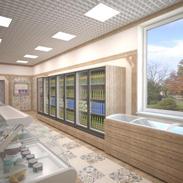 Дизайн магазина продуктов: фото проектов.
